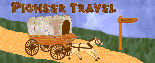 Pioneer Travel picture of horse and covered wagon